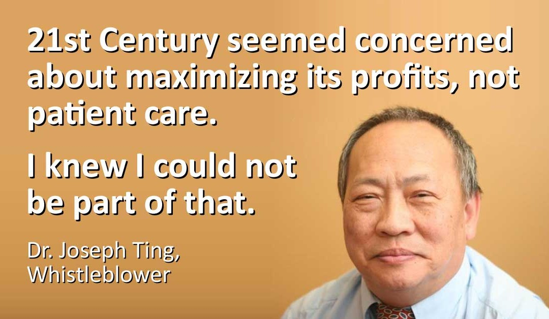 What's It Like to Be a Whistleblower? An Interview with Dr. Ting